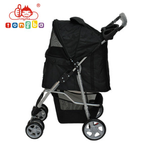 Foldable pet stroller outdoor dog cart trolley