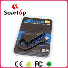 4ports 3.0 usb hub black ultra-thin reversible 3.1 type c for all USB 3.1 interface electronic devices