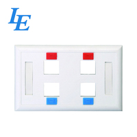 86X86mm or 114x70mm 4 Port RJ45 FacePlate for Telecommunication