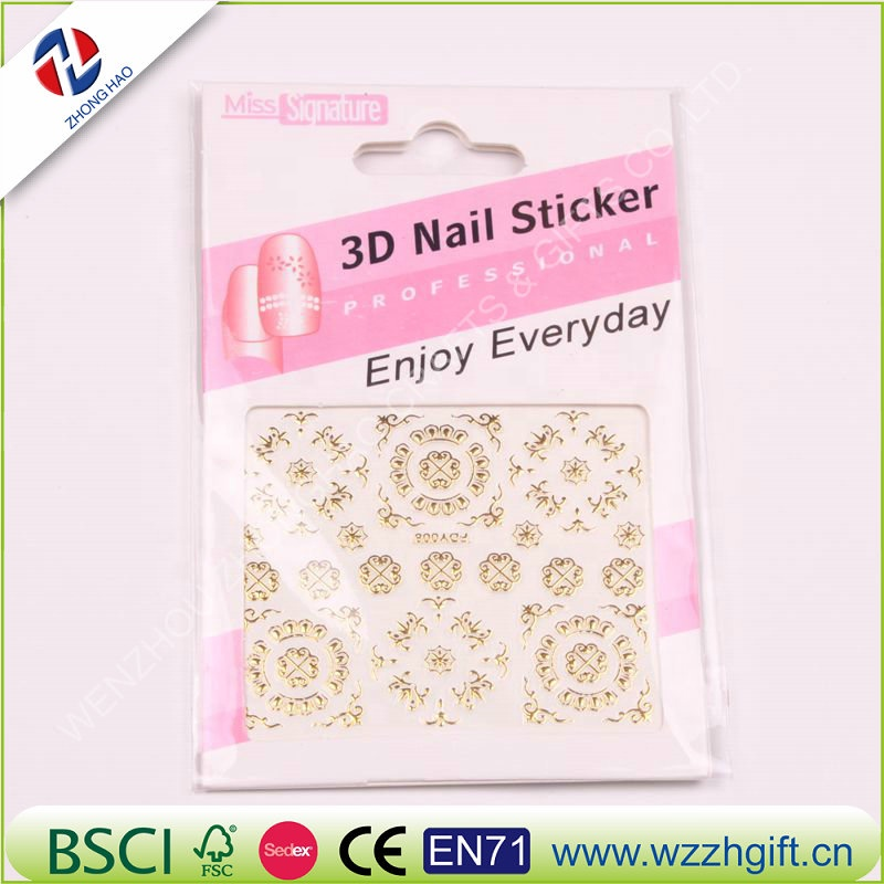 3d Nail Sticker Schönheit Gold Design Marke Nail Art Charms Maniküre Bronzing Decals Dekorationen Werkzeuge