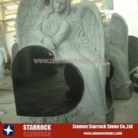 Granite angel tombstone monument