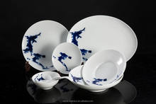 Environmental protection and health tableware Blue and White Underglazed Porcelain 20pcs dinner set