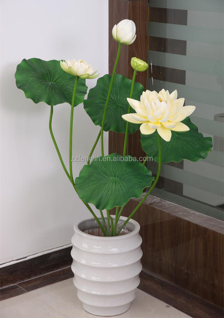 Decorative Flower Borders: Decorative Artificial Floating Lotus Flower Cheap