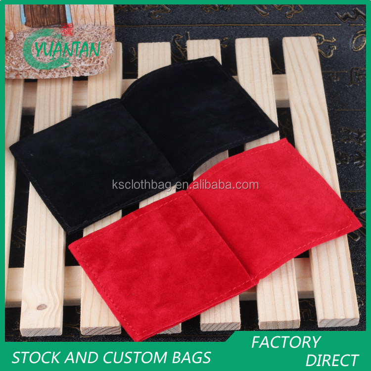 Custom logos velvet gift bags, high class watch pouch