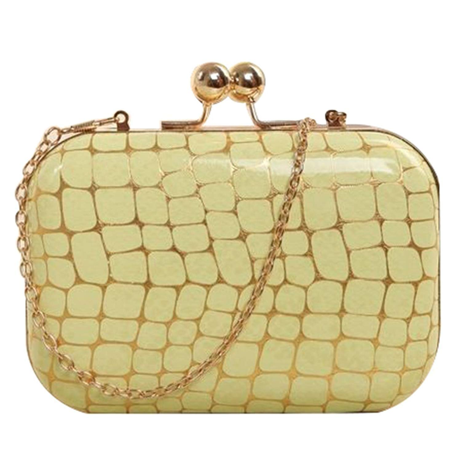 Retro Stone pattern Girls Shoulder Bag - TOOGOO(R)Retro Stone pattern PU leather Women's mini evening bag fashion clutch banquet bag girls shoulder bag Messenger bag, Green