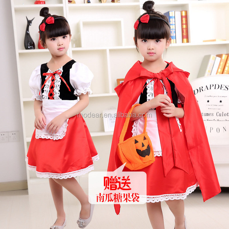 Wholesale fashion deluxe cosplay little red riding hood costume funny halloween costume