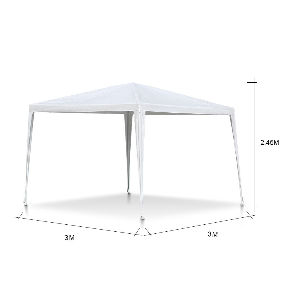 3 x 3m polyester gazebo tropical wedding camping tent
