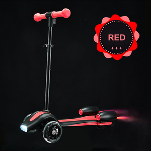music spray fire kick scooters with LED wheel