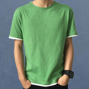 Blank T Shirt Design Contrast Color Green White Black