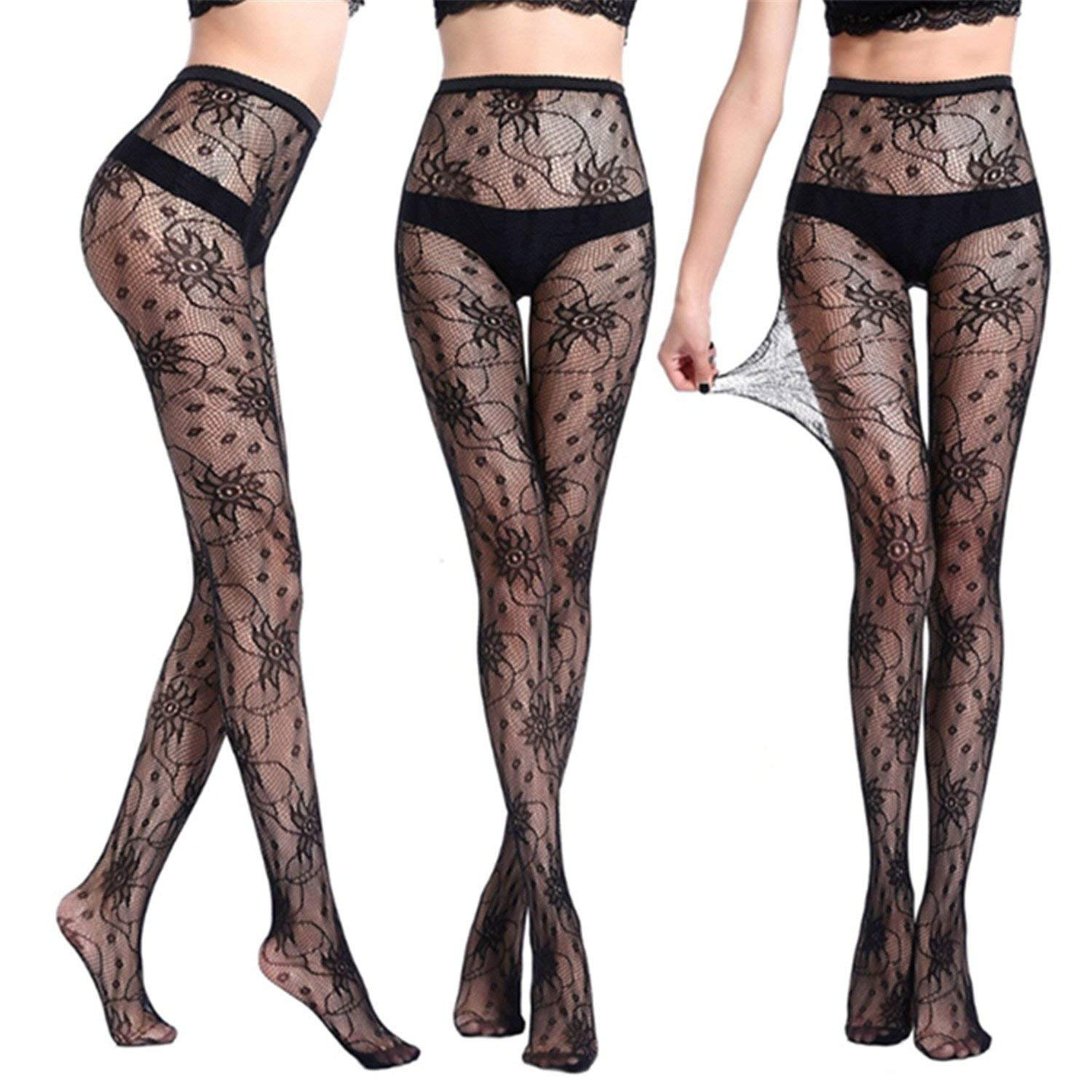 978b93d818b Get Quotations · Soto6ro Sexy Women Tights Skinny Legs Pantyhose Elastic  Magical Stockings Prevent Hook Silk Stocking Black