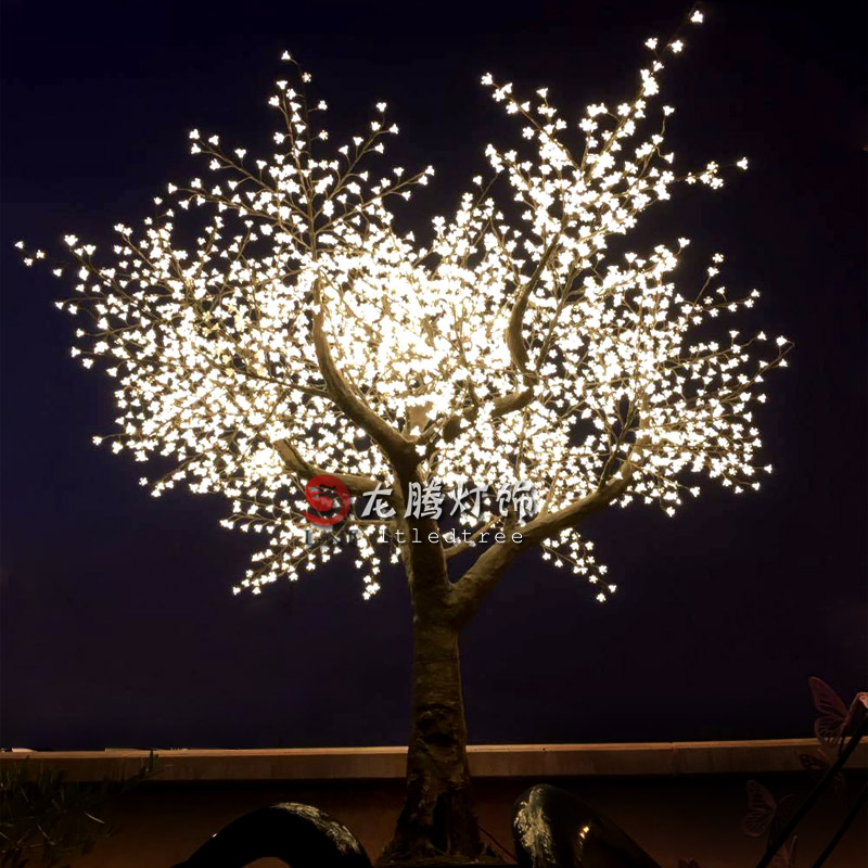 12ft led acrylic flower light outdoor artificial cherry blossom tree