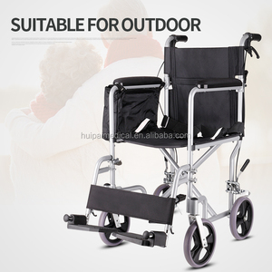 Folding portable Medical Wheel Chair with soft seat for elderly