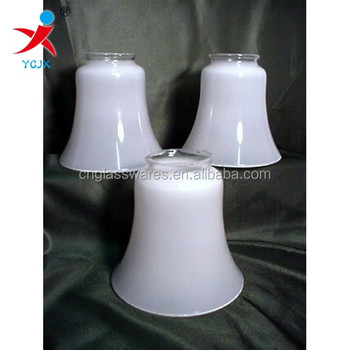 Blown glass bell shaped lamp shade white opal shiny glass pendant blown glass bell shaped lamp shade white opal shiny glass pendant lamp shade lamp aloadofball Choice Image