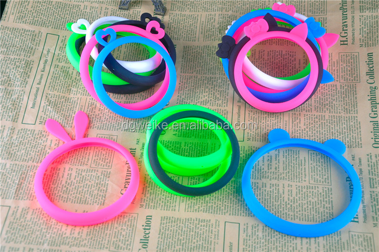 3D Lovely animals multi-purpose Wristbands case Soft Silicone Phone Case For smartphone mobile (hair band / cup/bracelet/band)