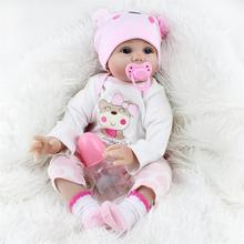 2018 New Year Children Valentine Gift Emulational Lovely Soft Plastic Reborn Baby Dolls