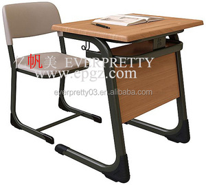 School Ergonomic Furniture Student Single Table and Chair Set