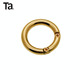 TANAI metal decorative bag O rings snap hooks for handbags