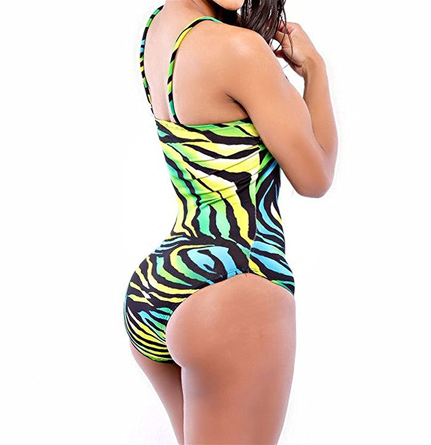 9ac4af691d Get Quotations · Mainstream Nice Womens Vintage One Piece Swimsuit Swimwear  Bathing Suit