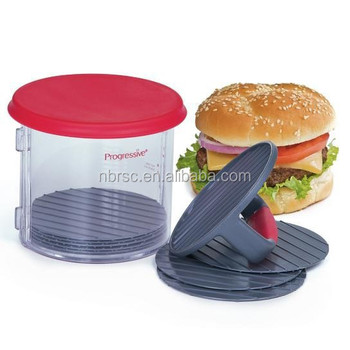 Patty Caddy Ultimate Simple U0026 Easy Burger Maker Hamburger Press And Storage  Plastic Stuffed Hamburger Press