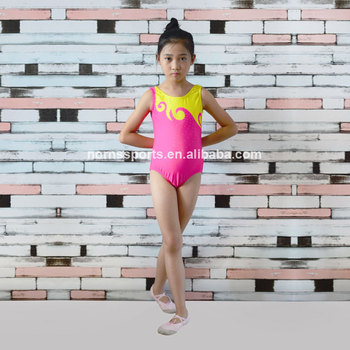 Wholesale Kids Gym Leotard Sublimation Rhythmic Sleeveless Girls Sexy Gymnastics Leotards