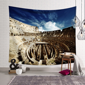 Custom Home Decor Rome Famous Building Tapestry Wall Hanging