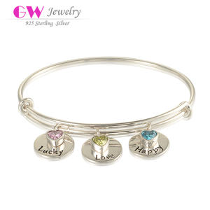 Cheap Wholesale Trading Hot Products Adjustable Sexy Silver Bangles With Beads