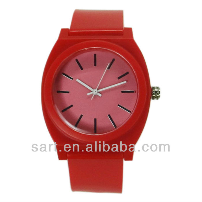 baratos personalizar unisex plástico caliente venta reloj de pulsera ... e0a84762a280