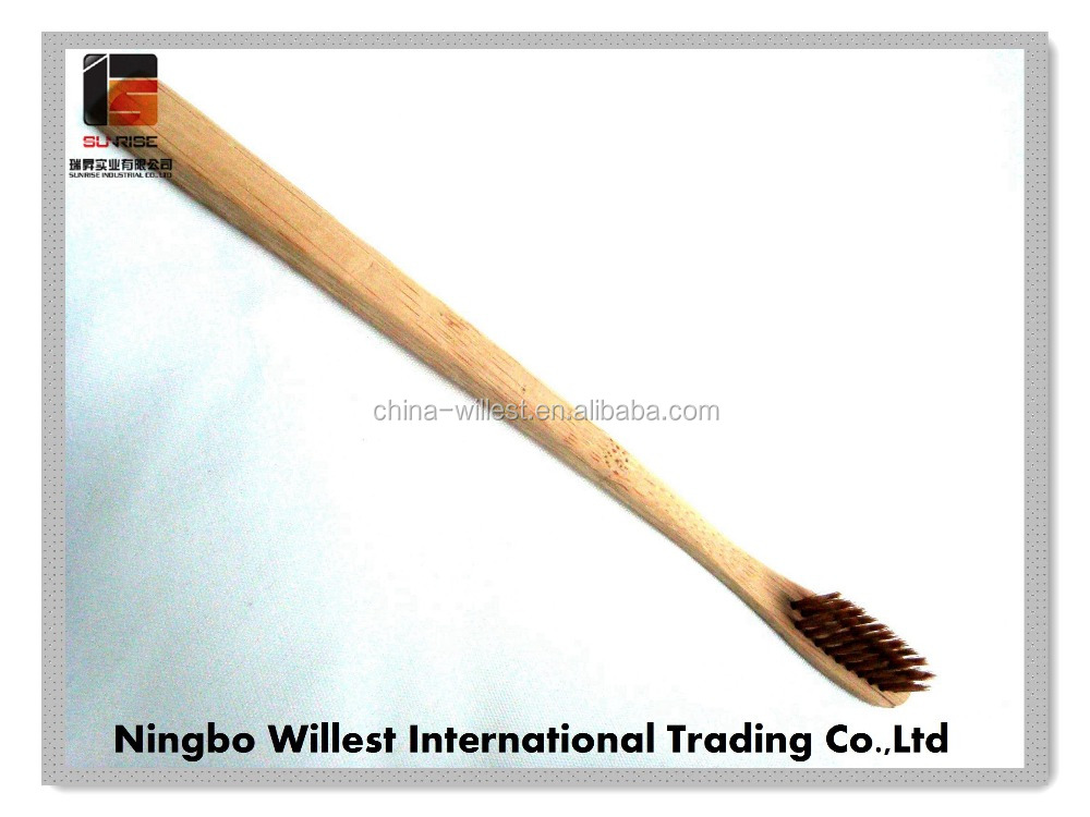 TOOTHBRUSH with different shape bamboo handle