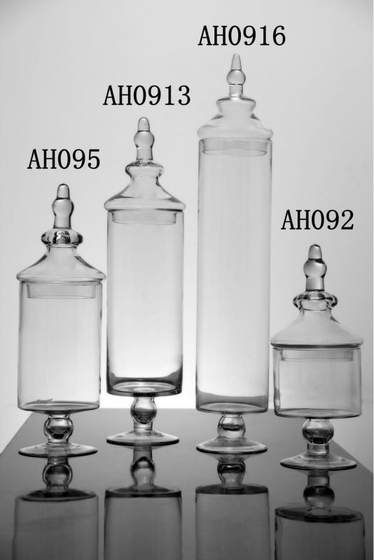 Clear Cylinder Apothecary Candy Glass Jar