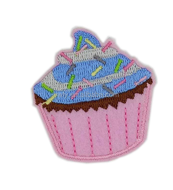 Custom Embroidered  Felt Flower Badge With Butterfly Clip On Backing For Garment