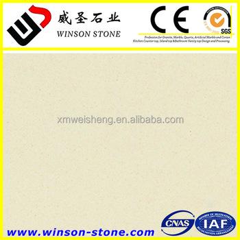 Prefabricated Polishing Quartz Countertops ,Klin Rice White Pre Cut Quartz  Countertop