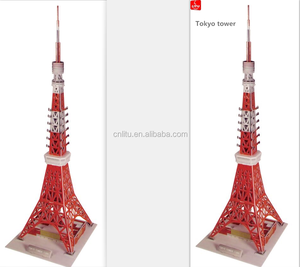 9148 3D puzzle Tokyo tower in Japan World famous landmarks DIY building educational game toys 3D jigsaw puzzle