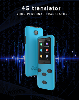 Portable Smart Wireless Translator Real Time Instant Voice Translation Support Russian 45+ Languages