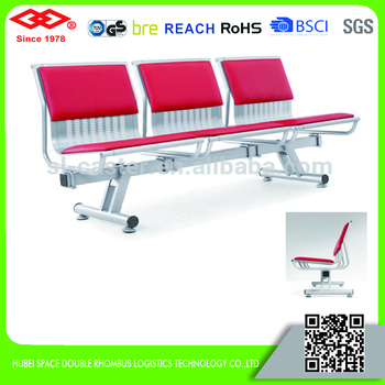 Custom Airport Chair Red Colour Airport Lounge Chairs