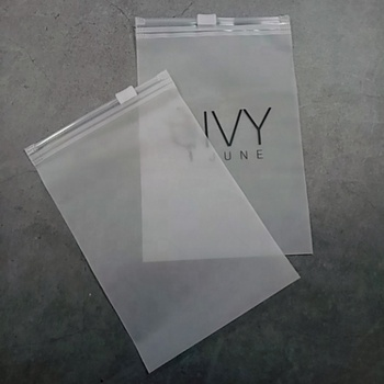 Plastic small Packing bags Custom EVA Plastic Type Material frosted Vinyl Zipper Bag with logo