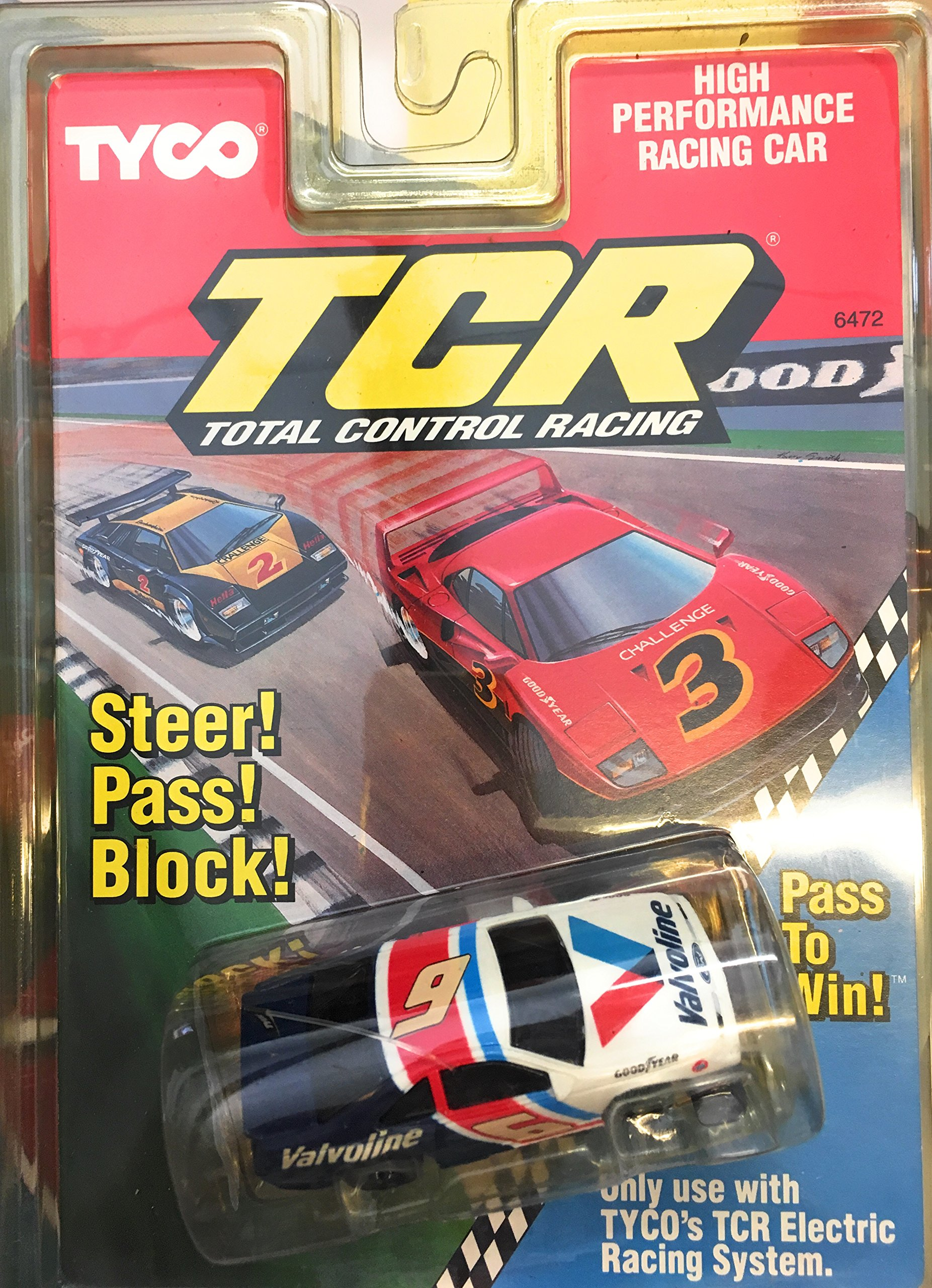 TCR High Performance Racing Car #6 Valvoline Electric Slot Car TYCO