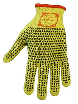 Global Glove K200D2 100 Percent Kevlar Standard Weight String Knits Glove, 2 Sided Dots, Cut Resistant, Ladies (Case of 120)