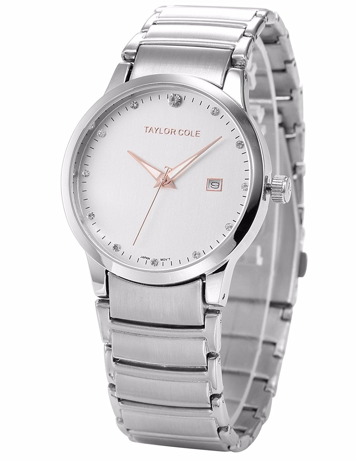 Mix&Rock Taylor Cole Ladies Simple Casual Date Display Stainless Steel Band Quartz Watch