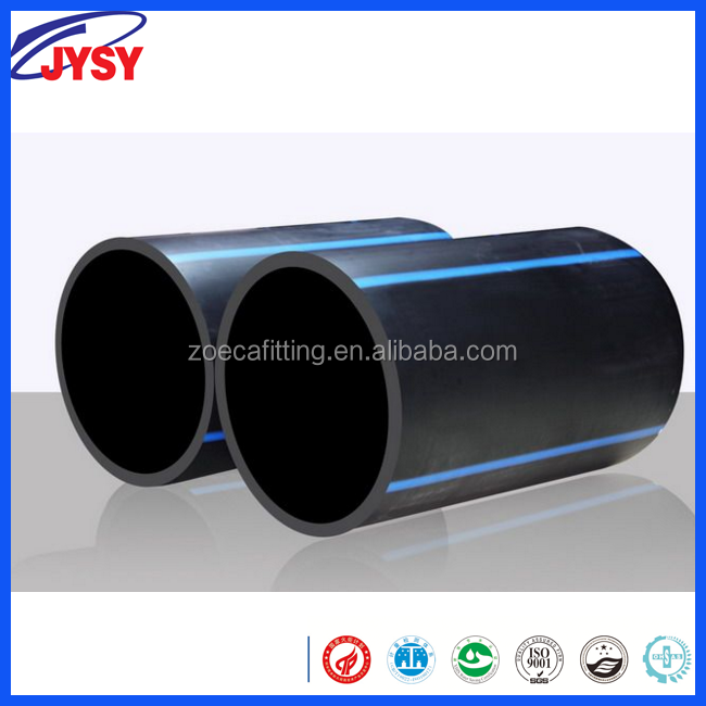 "High Quality ISO9001 HDPE conduit 100 high pressure 3"" flexible plastic pe water pipe duct"