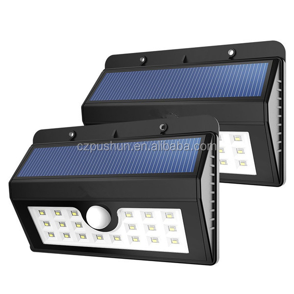 2016 new products solar lights with remote control solar wall lights outdoor led garden lights