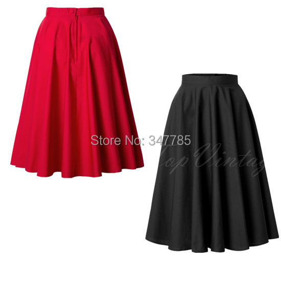 9e9e3fdd873 Black High Waisted A Line Skirt - Dress Ala. Search on Aliexpress.com by  image. 2014 summer women black red vintage 50s cotton england style midi  length ...