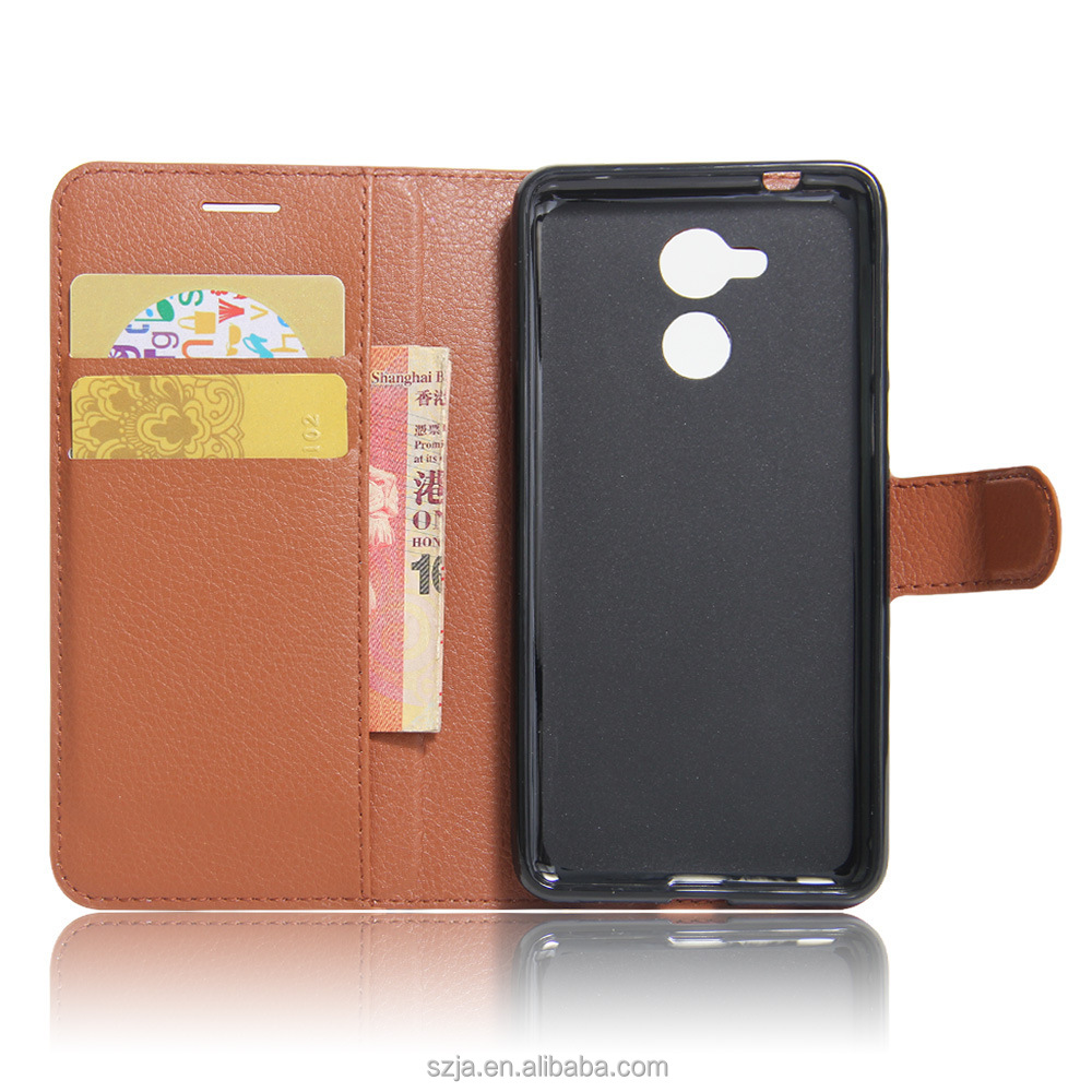 Wallet Credit Card Book Style Flip Stand Leather Case Back Cover for huawei honor 6c leather cover