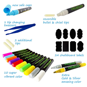 Environmental Chalk Markers Chalkboard Erasable Dustless Water Based Liquid Wet Erase Pen 3mm fine line tip glass markers