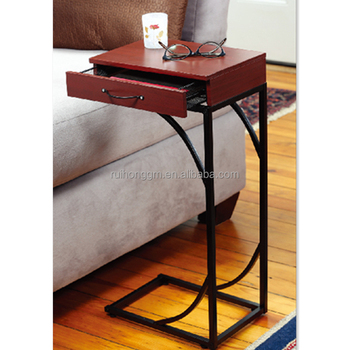 New Design Metal Folding Coffee Table With Drawers Sofa Side Table