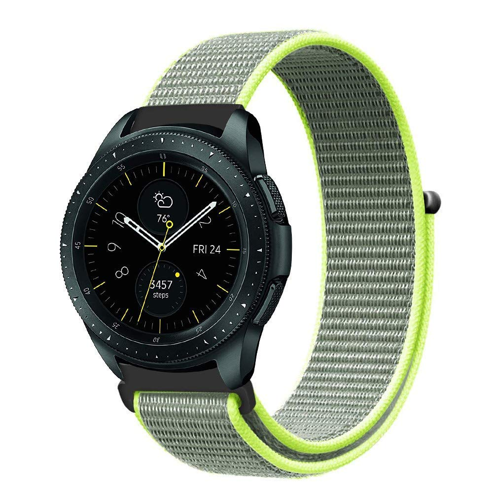 SUKEQ Compatible Samsung Galaxy Watch 42mm Bands, 20mm Milanese Loop Strap Replacement Band for Samsung Gear S2, Samsung Galaxy Watch 42mm (Green)
