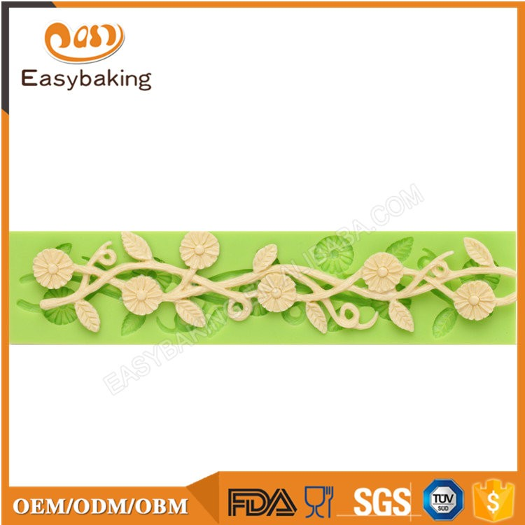 ES-4303 Flower Fondant Mould Silicone Molds for Cake Decorating