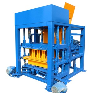 qtj4-25 automatic concrete block making machine in china