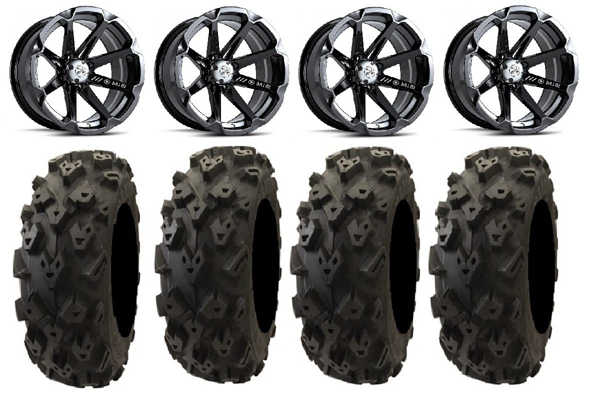 MSA Lok 14 UTV Wheels 28 Sand Slinger Tires 9 Items 4x137 Bolt Pattern 12mmx1.5 Lug Kit Bundle