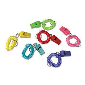 e92fa50ddfb8 Promocional 24 colorido primavera bobina pulsera llavero plástico silbatos  a granel