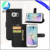 factory price for samsung galaxy s7 edge mobile phone PU leather with 3 card slot wallet case book style
